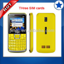 hot 3 sim cards quad band chinese mobile phone C333