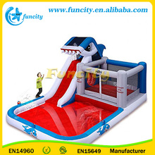 Blast Zone Shark Park Inflatable Water Park Bouncer with sea ball and slide inside