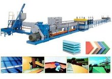 PVC profile machine production line for hollow plastic sheet extrusion