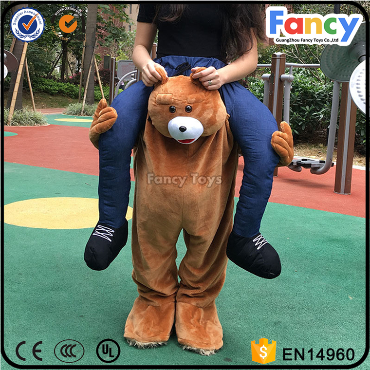 FT04 popular carry me bear costume adult plush yellow bear animal anime costumes for men