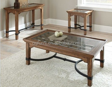Wholesale cheap glass coffee table with stools