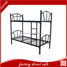 double layer detachable domitory metal bunk bed for school home hotel