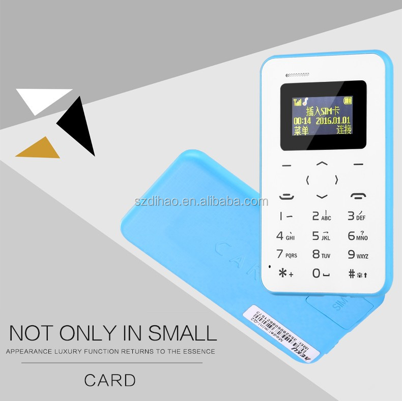 DIHAO New mini card telefon aeku Q2 kreditkarte handy quad band low radiation for kinder kinder studenten handy pk aiek M5