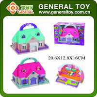 20.8*12.8*16cm toy house / plastic mini house toy / toy model houses