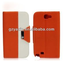 Smart for samsung note n7100 wallet leather case,Hot selling leather flip case for samsung galaxy note 2