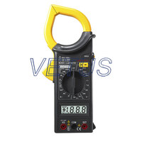 Protable MASTECH M266C Digital AC Clamp Meter DC Voltage Resistance Tester Detector with Diode