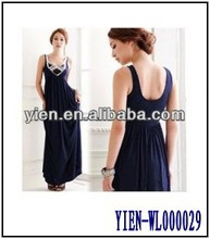 Latest Cotton Evening Dress Slim Ladies Evening Dresses With Stone