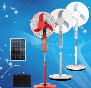 "hot chinese rechargeable emergency 16"" stand fan with battery operated"