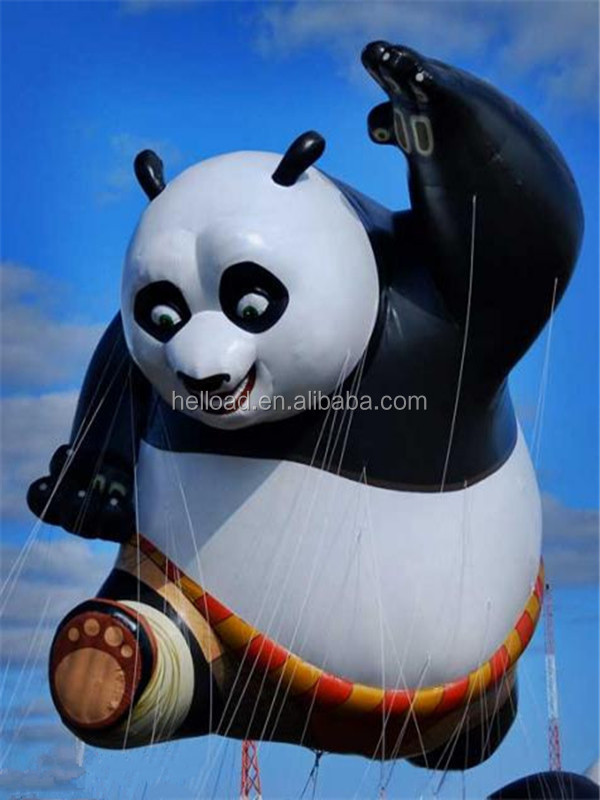 2015 popular custom giant inflatable floating product/ inflatable cartoon/inflatable Kung Fu Panda for advertising