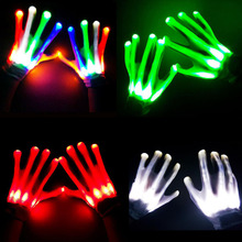 party supplies led flashing light led gloves led finger light gloves