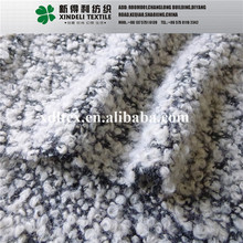 Lady's fashion outerwear fabric boiled 55% polyester 45% wool boucle boiled wool knit fabric price