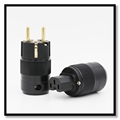 Hi-End 24K Gold Plated IEC Connector EU Schuko Plug power plug SCHUKO Eu power plug connector