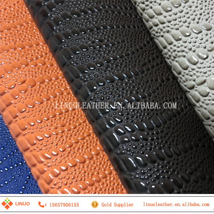fashion pvc bag leather material