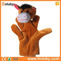 China wholesale various cartoon animals custom cute stuffed finger puppets toy