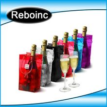 Clear PVC Tube Handle Champagne Carrier Bag
