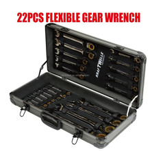 22PC royal flexible wrench luxury spanner set gear wrench gold color