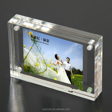 Magnetic acrylic photo frame