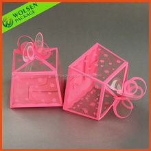 2014 New design folding clear gift box/PVC box for candy
