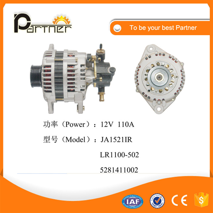 Auto parts JA1521IR alternator for Isuzu/ Opel LR1100-502 5281411002 12V 110A