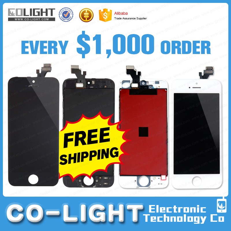 Hot selling lcd screen and digitizer assembly for iphone 5s 5 paypal accepted
