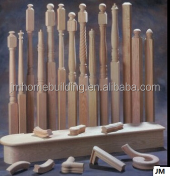 timber stair components/stair newel post/tread