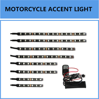 RGB LED Car Motorcycle Chopper Frame Glow Lights Flexible Neon Strips Kit