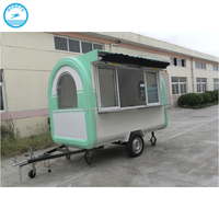 Snack Low Bed Food Truck Mobile Advertising Trailer