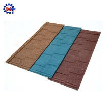New product 2017 stone coated steel roofing shingles tiles / barrel tile with low price