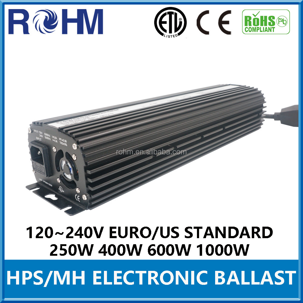 250W 400W 600W 1000W HPS MH electronic ballast greenhouse for high pressure sodium light
