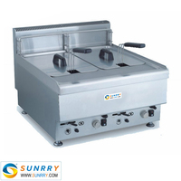Commercial Gas Chips Fryer Machine Countertop 10L Liters CE Approved Potatos Frying Machine (SY-TF600B SUNRRY)