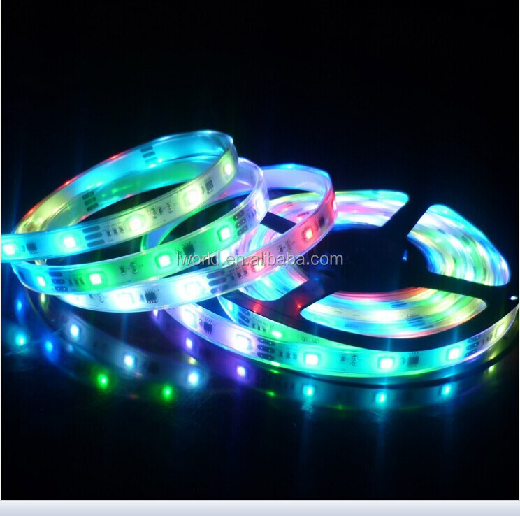 DMX control running 5050 rgb dream color 6803 ic led strip light