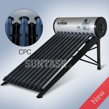 Parabolic Curve Sunlight Concentrator Integrated Solar Hot Water