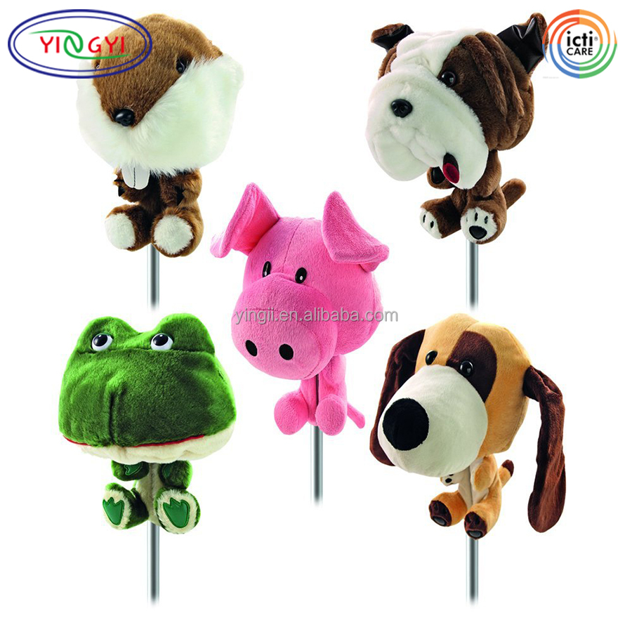 F312 Farm Animal Club Golf Driver Headcover Plush Animal Golf Club Head Cover