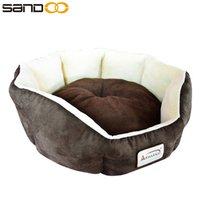 2017 new product soft large dog bed, foam padded luxury pet bed