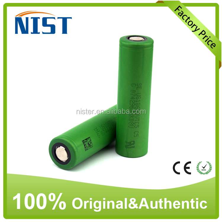 Hot sell!!!Rechargeable battery VTC5 186503.7V 2600mah li-ion battery for e-cig
