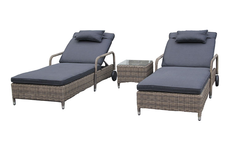 Best selling outdoor rattan sunbed daybed