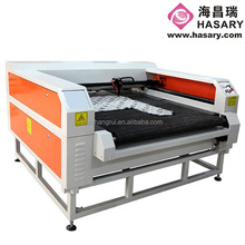 Software independent CO2 laser cutting machine for leather jackets with high power