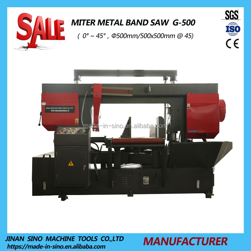 HYDRAULIC Industrial angle cut 45 degree band saw machine G-500