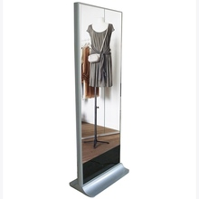 lcd digital signage display magic mirror display advertising with human senor