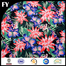 Factory direct high quality digital flower printed organza fabric