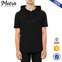 100% Cotton New Style Men's Blank Short Sleeve Hoodie