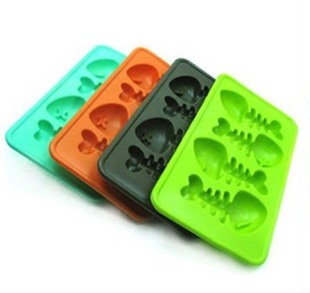 Soft material silicone Fish bone ice tray