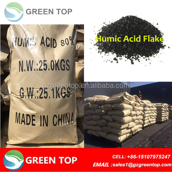 High concentrated humic acid content potassium humate flakes