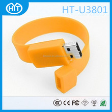 HT-U3801Custom Promotional High Quality Silicone Bracelet USB flash drive 32mb-128gb bracelet usb 2.0 memory stick
