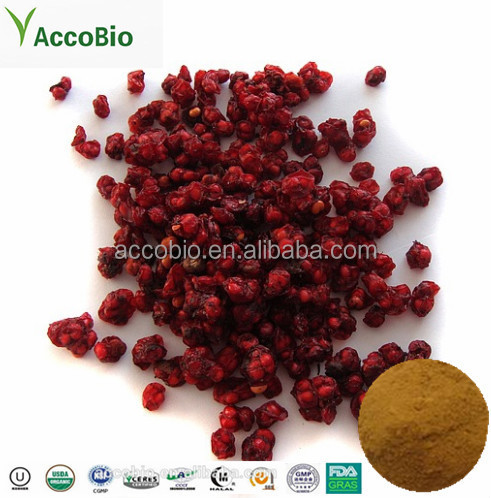 Factory Supply Fructus Schisandrae Chinensis Extract 2% 9%Schisandrins Powder