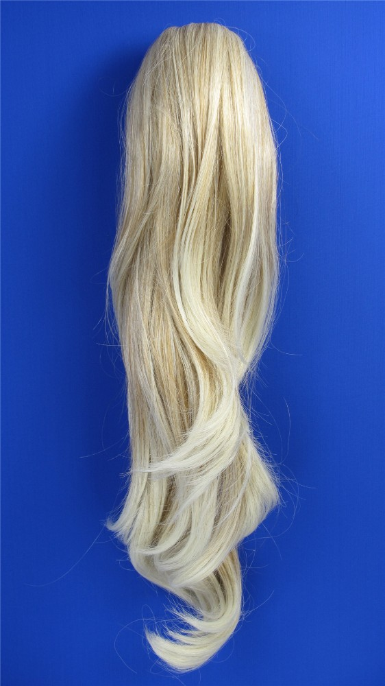 HP5007 synthetic hair ponytail holder,curly weave ponytail,black ponytail wig