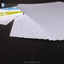 Hot sale pvc material white blank plastic business card