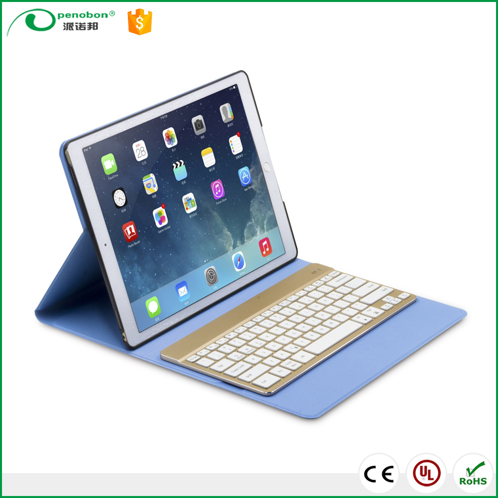 Factory price Slim gold color mini wireless bluetooth keyboard for ipad/iphone