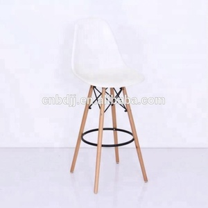 PP beech wooden legs modern bar chair cheap price