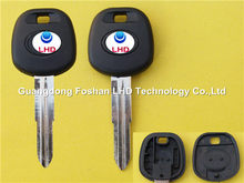 Aftermarket Toyota transponder chip key shell with TOY41 blade